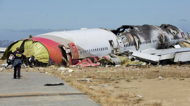 U.S. National Transportation Safety Board photo shows the wreckage of Asiana Airlines Flight 214 that crashed at San Francisco International Airport in San Francisco